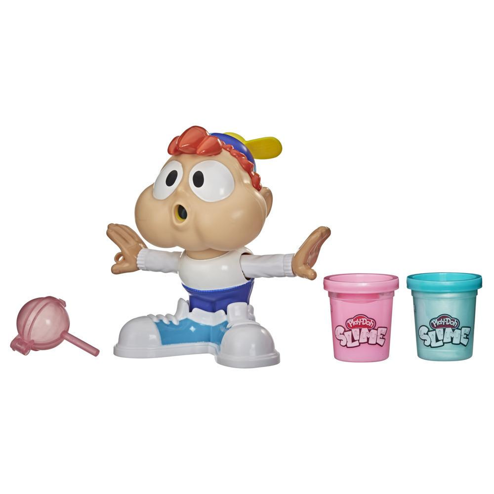 Play-Doh Slime Chewin' Charlie verktøyleke for slimbobler med 2 bokser rosa og blå giftfri Play-Doh Slime-masse