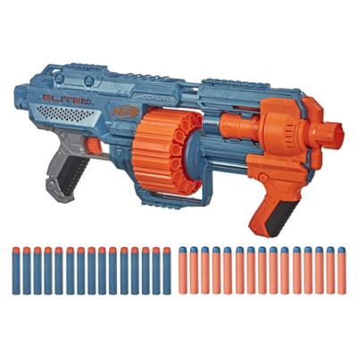 Nerf Elite 2.0 Shockwave RD-15-blaster, 30 Nerf-piler, rundmagasin som rommer 15 piler, Slam Fire-funksjon, funksjoner som kan egendefineres