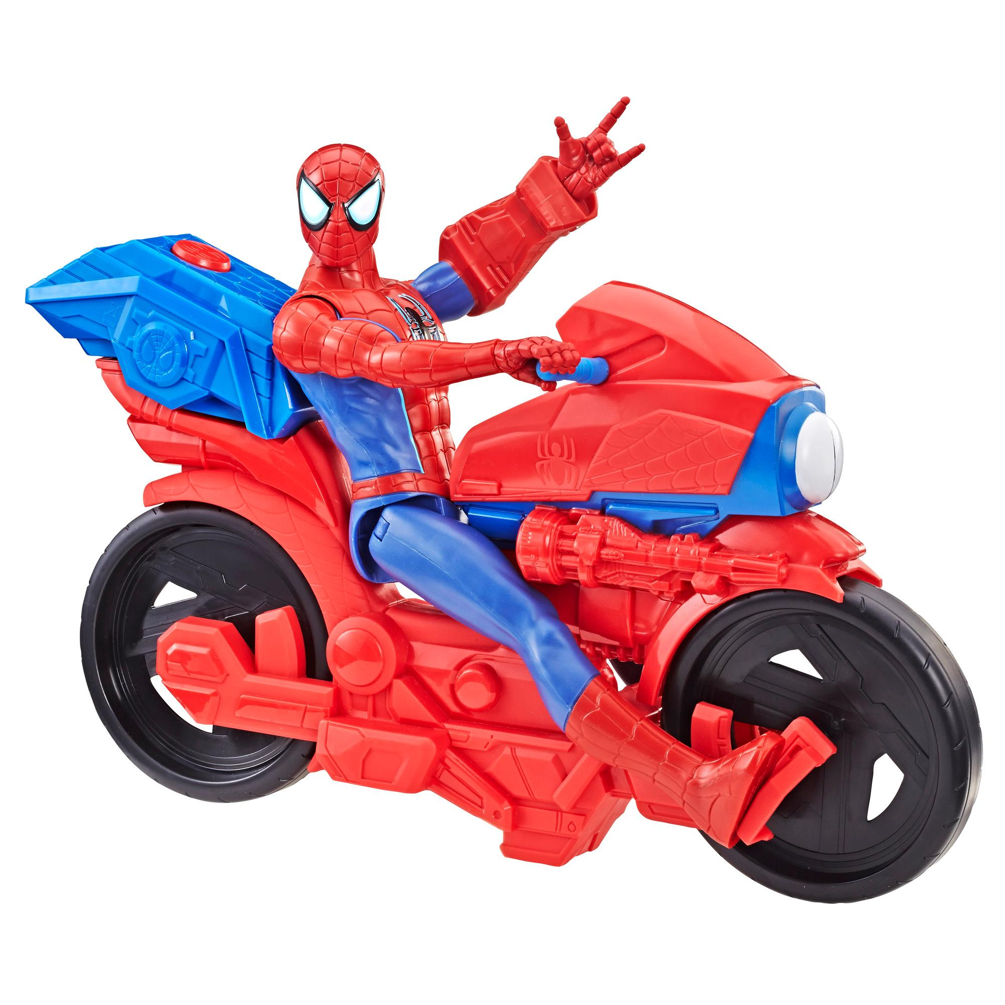 Spider-Man Titan Hero Series Spider-Man Figure with Power FX Cycle Plays Sounds and Phrases