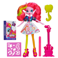 My Little Pony Equestria Girls Stamp Pad-gitar og Stamper Shoes Pinkie Pie-dukke