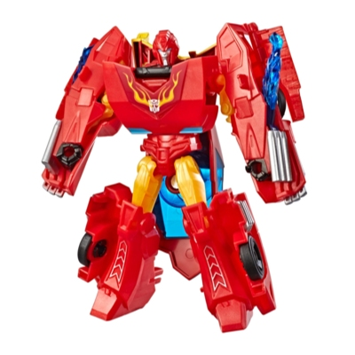 Transformers Cyberverse Action Attackers: Warrior Class Hot Rod Action Figure Toy Product