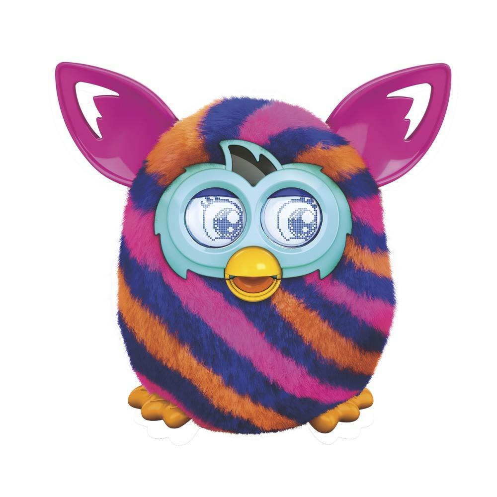 FURBY BOOM ORANGE BLUE DIAGONAL STRIPES