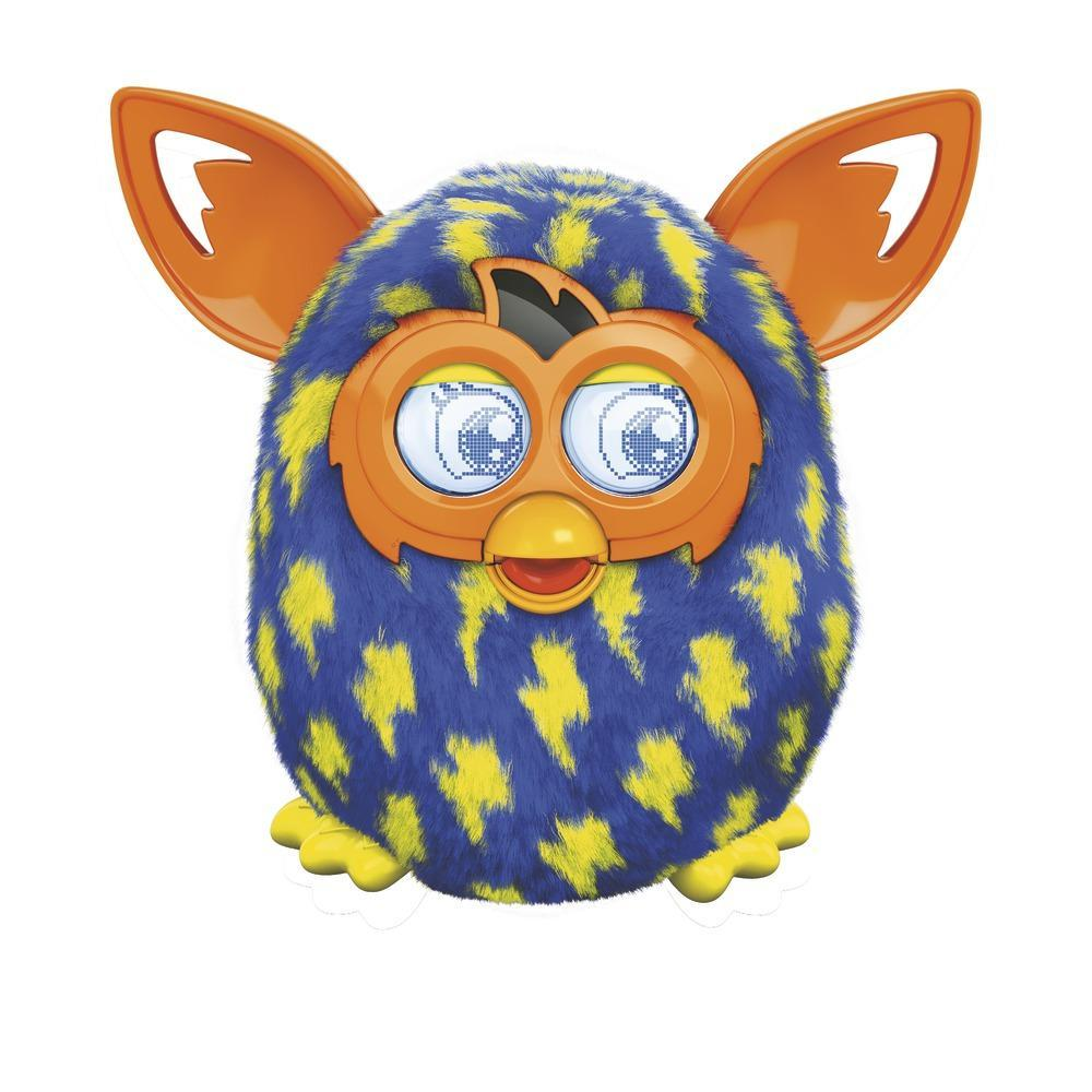 FURBY BOOM BLUE YELLOW LIGHTNING BOLTS
