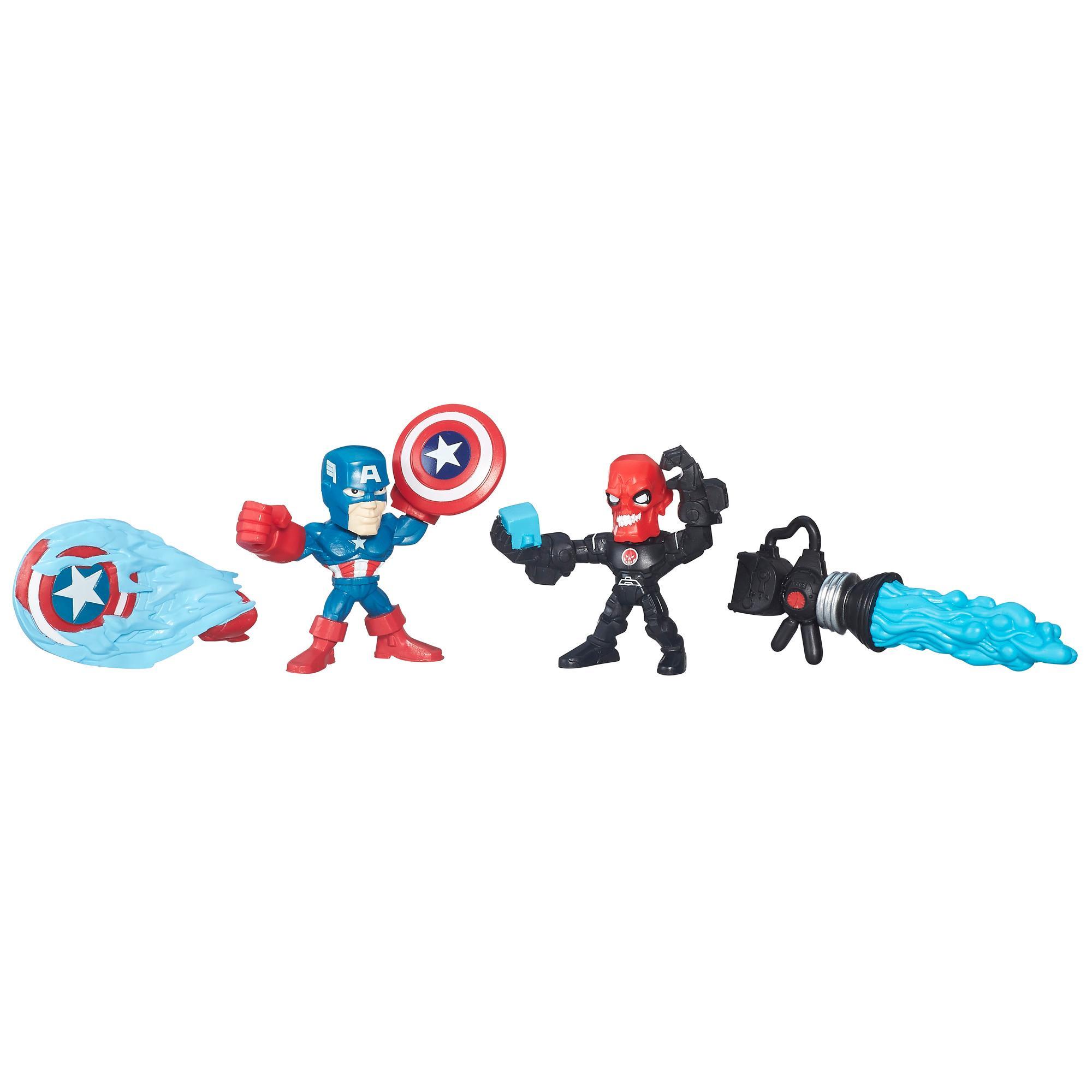 AVENGERS SUPER HERO MASHERS MICRO FIGURKI 2 PACK CAPTAIN AMERICA VS IRON SKULL