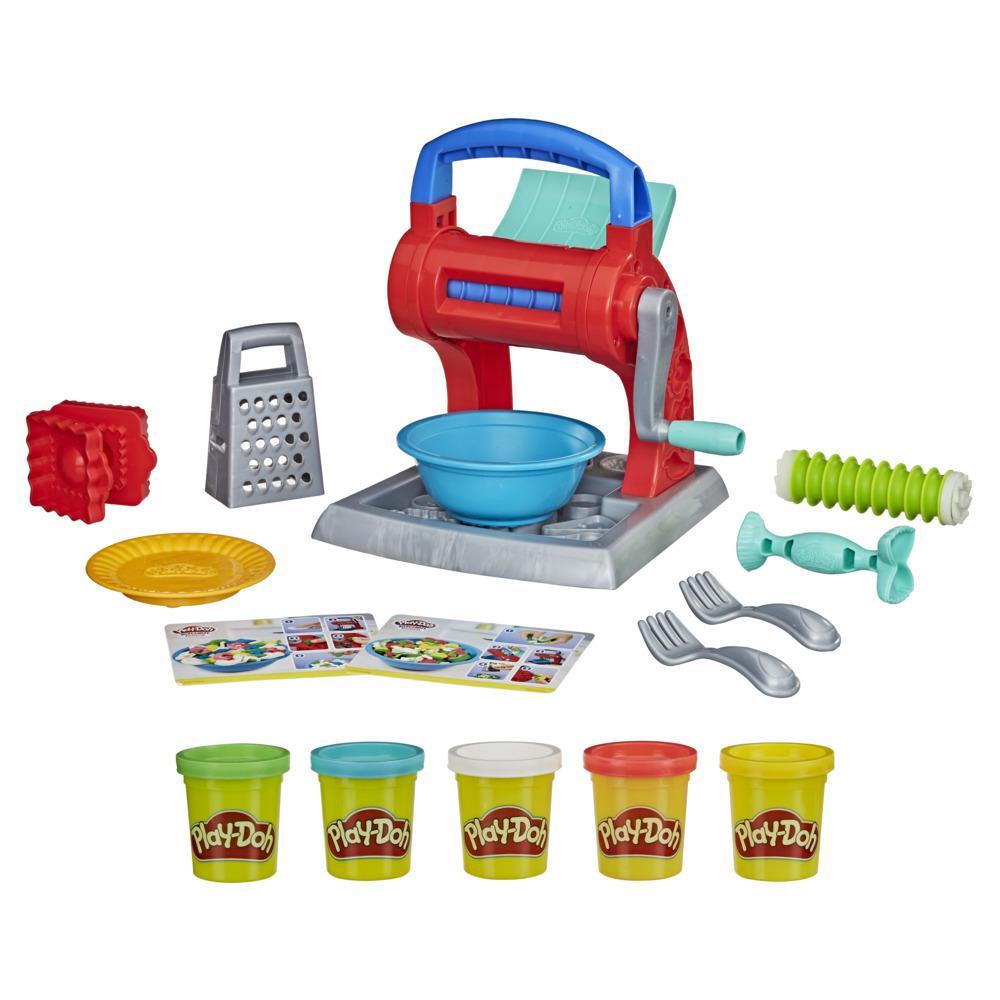 Zestaw Play-Doh Makaronowe szaleństwo zawiera nietoksyczną ciastolinę Play-Doh w 5 kolorach