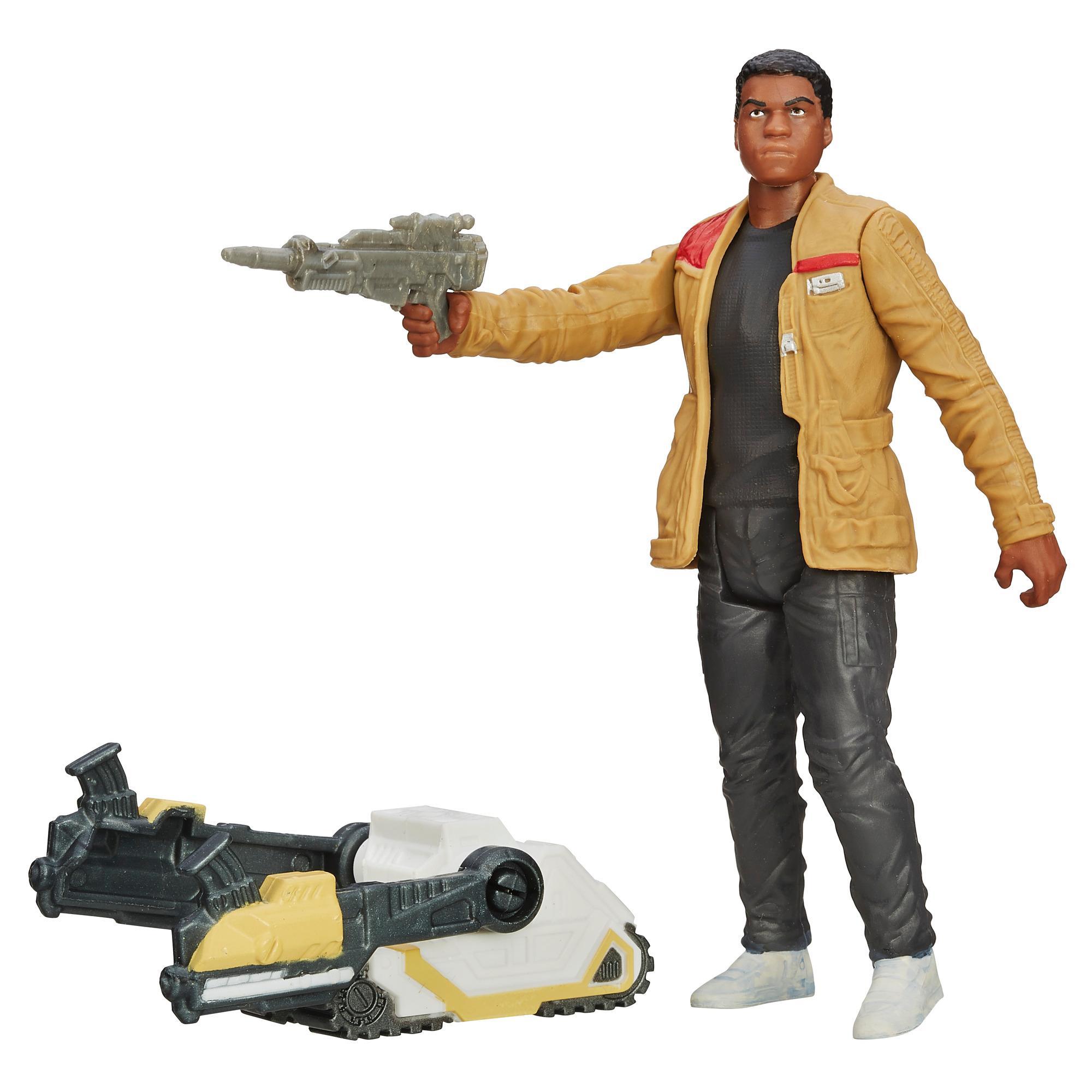 Gwiezdne wojny: Przebudzenie Mocy, 9,5-centymetrowa (3,75-calowa) figurka Finn (planeta Jakku) — Pustynna misja