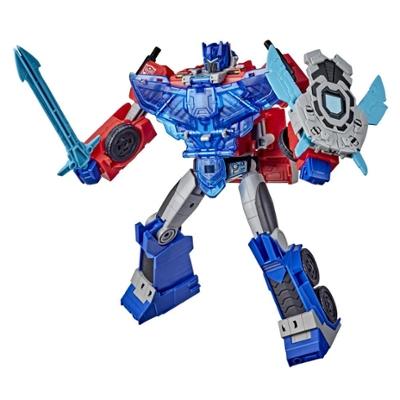 Figurka Optimus Prime klasy Officer, Transformers Bumblebee Cyberverse Adventures Battle Call, aktywowane głosem efekty świetlne i dźwiękowe Product