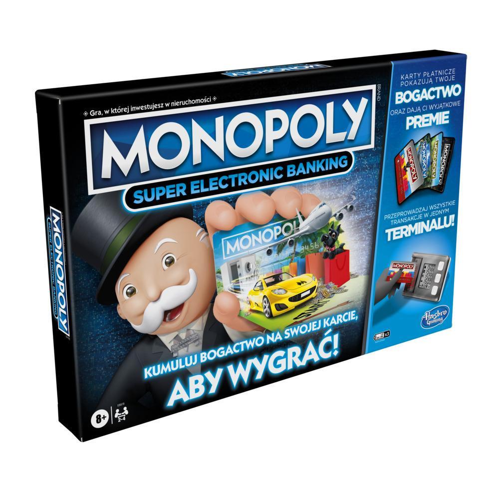 Gra planszowa Monopoly Super Electronic Banking dla dzieci w wieku od 8 lat