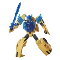 Figurka Bumblebee klasy Trooper, Transformers Bumblebee Cyberverse Adventures Battle Call, aktywowane głosem energonowe światła