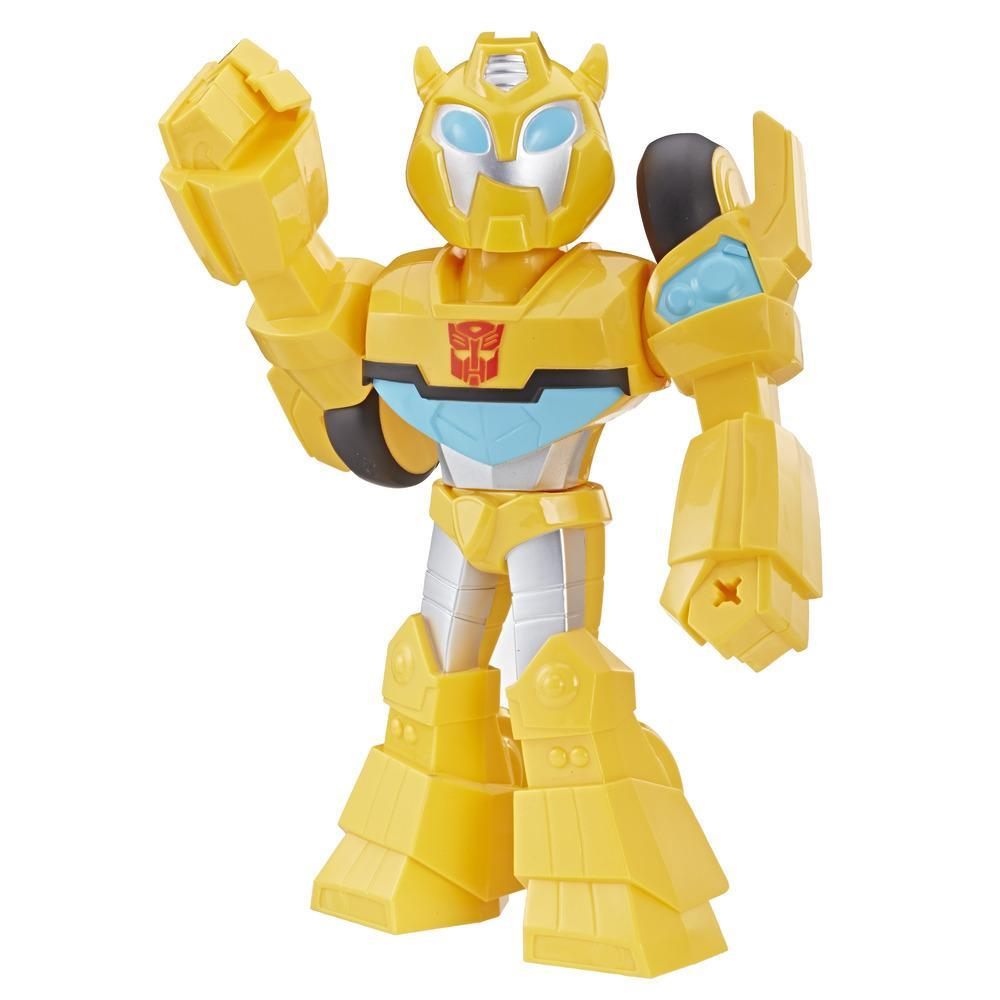 Playskool Heroes Transformers Rescue Bots Academy Mega Mighties Bumblebee Collectible 10-Inch Robot Action Figure, Toys for Kids Ages 3 and Up