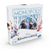 Edycja gry planszowej Monopoly: Kraina lodu II Disneya dla dzieci w wieku od 8 lat