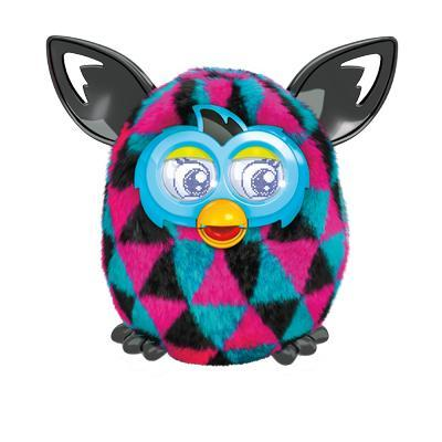 FURBY BOOM BLACK AND PINK TRIANGLES