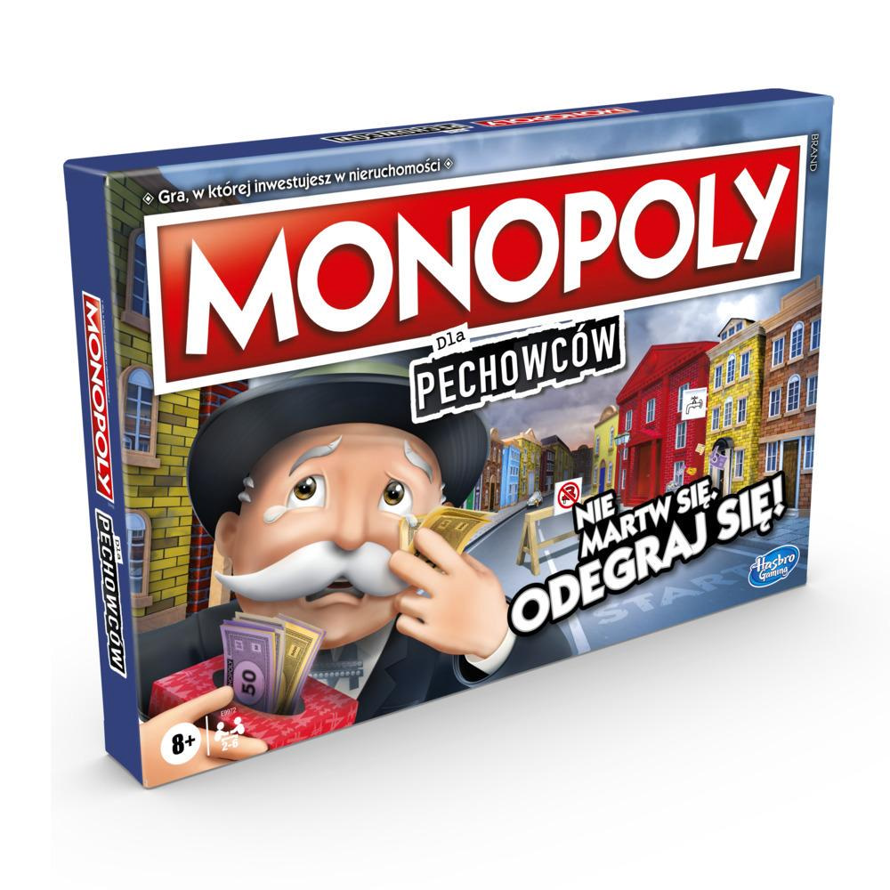 Gra planszowa Monopoly dla Pechowców, dla graczy w wieku od 8 lat