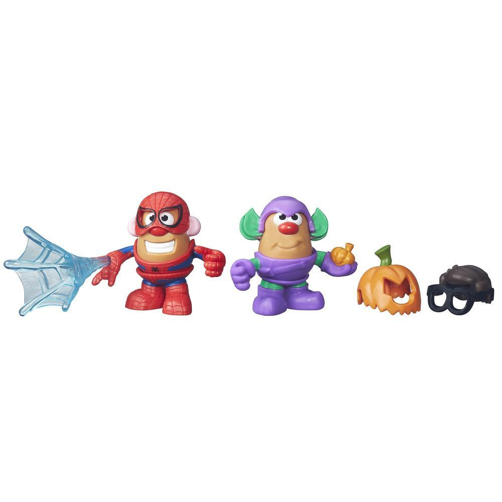Sr. Cabeça de Batata da Playskool Friends e Homem-Aranha e Duende Verde da Marvel