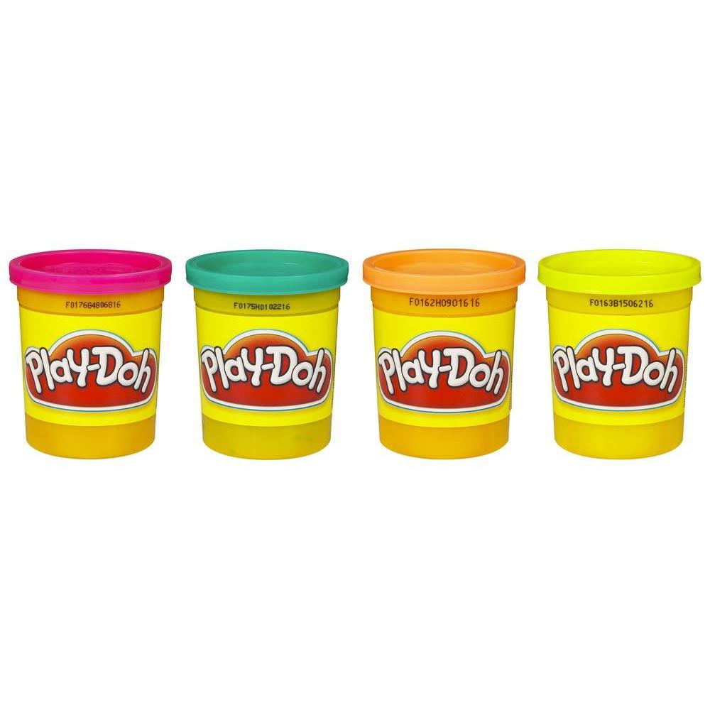 Play-Doh 4 Potes de Massinha (Cores Tropicais)
