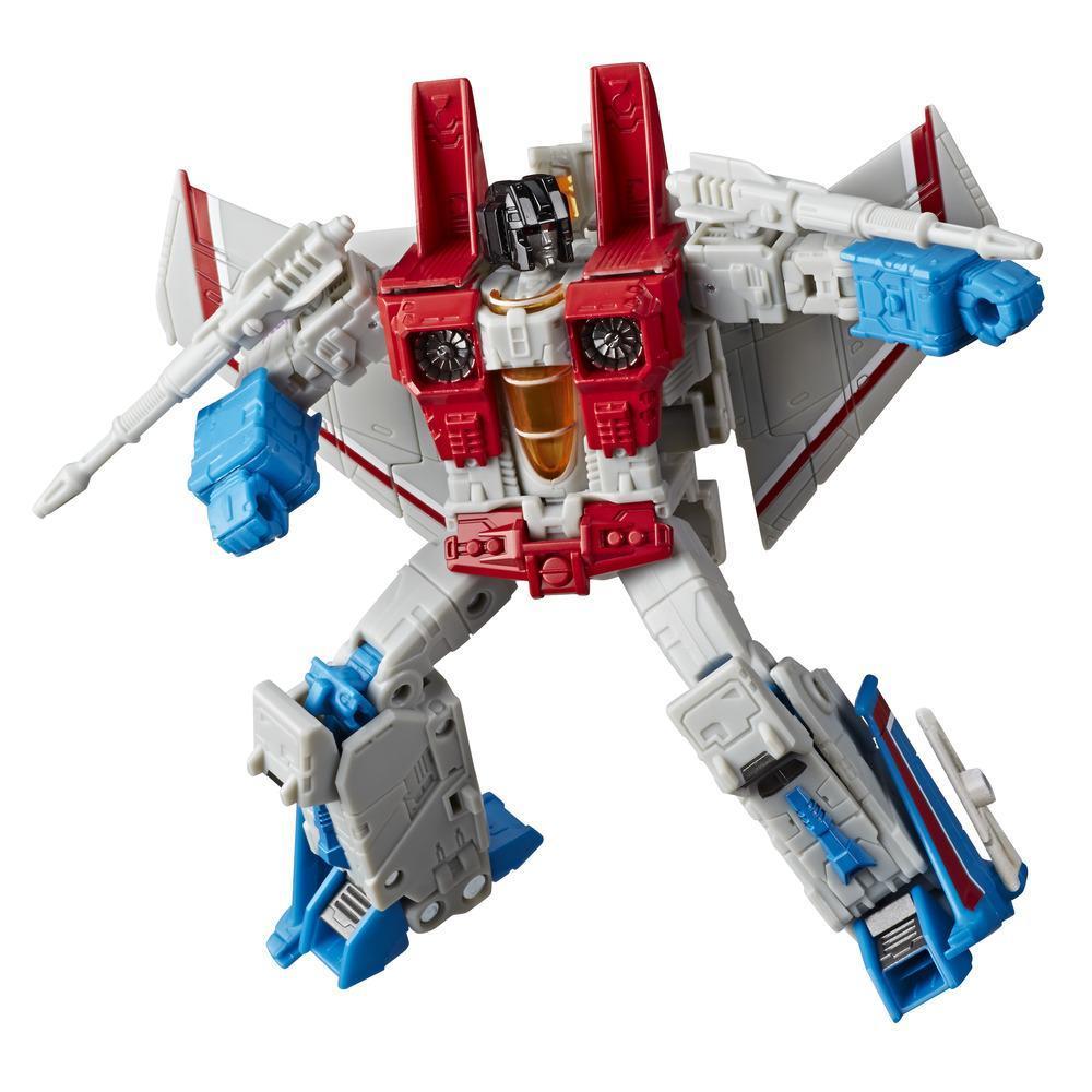 Transformers Generations War for Cybertron: Earthrise Voyager - Figura de 17,5 cm WFC-E9 Starscream para crianças acima de 8 anos