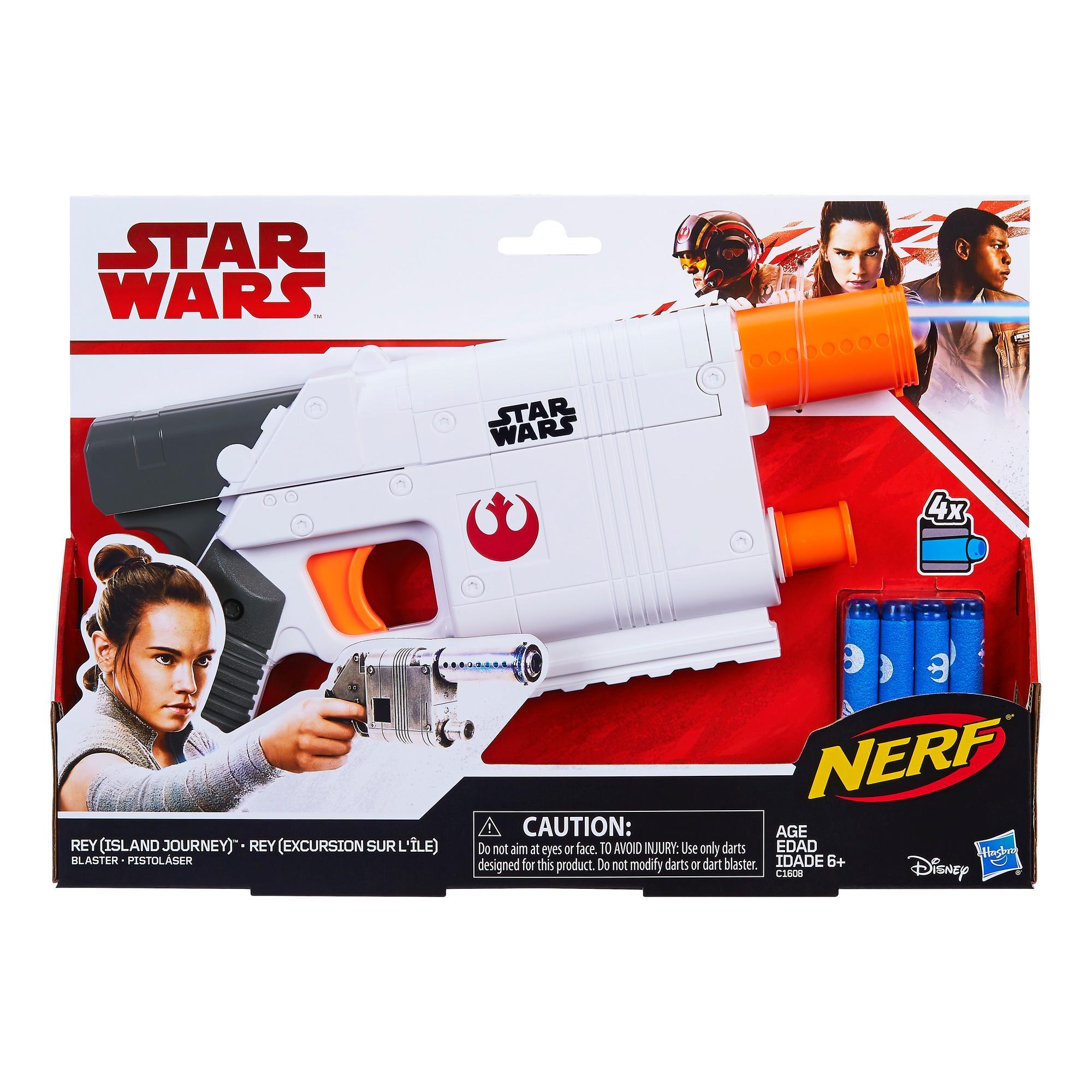 Lançador Nerf Star Wars Rey (Viagem à Ilha)