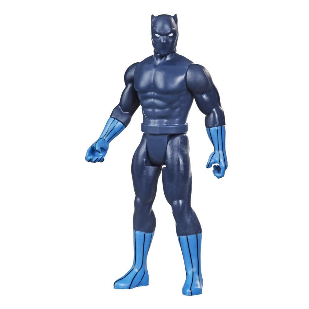 Hasbro Marvel Legends Retro 375 Collection Pantera Negra Figura Brinquedo 9,5 cm