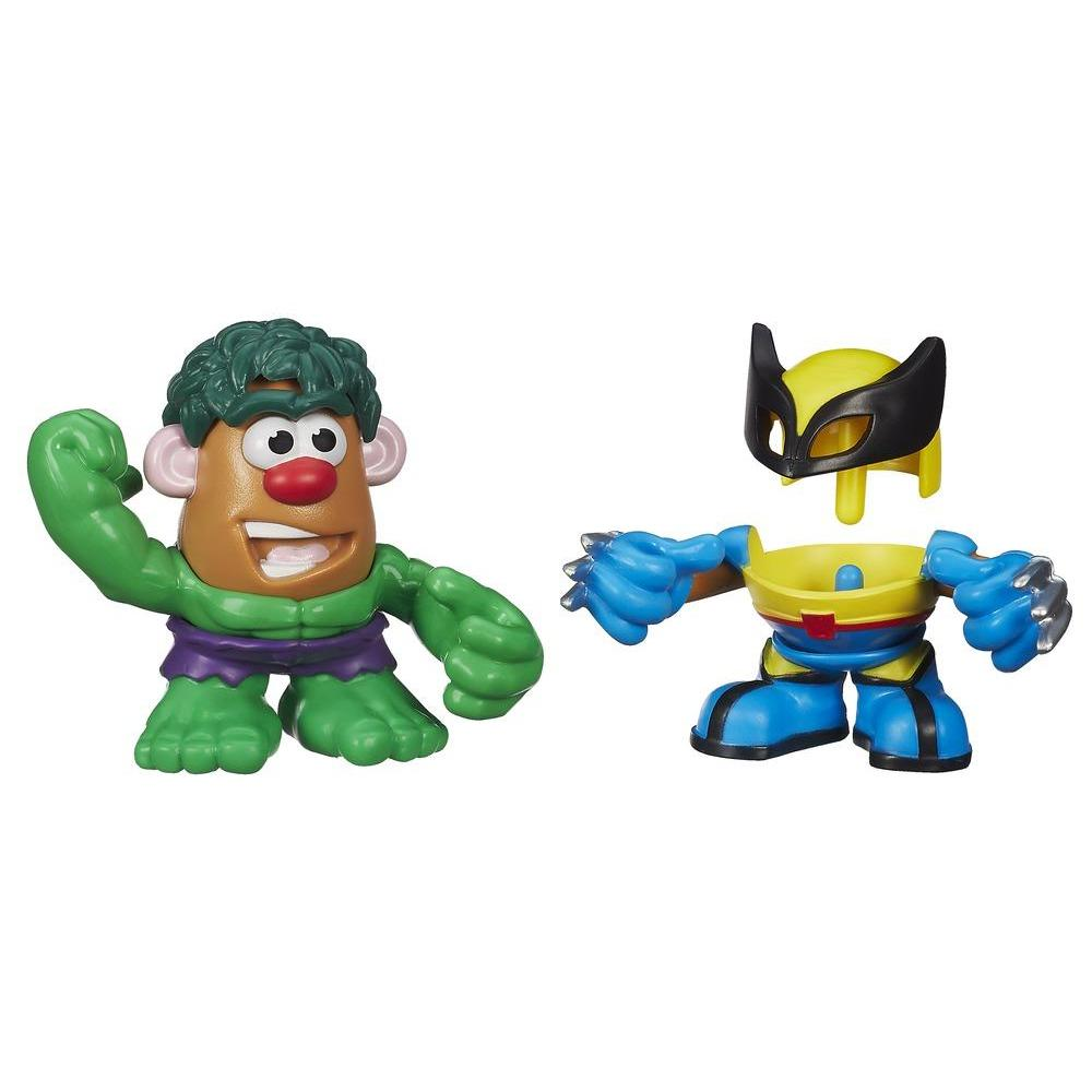 Playskool Mr. Potato Head Marvel Mixable Mashable Heroes - Hulk e Wolverine
