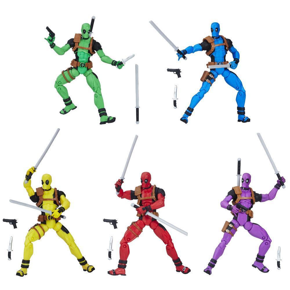 Marvel Legends - Esquadrão Arco-Íris de Deadpool com 5 Figuras