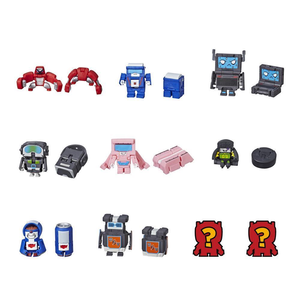 Transformers BotBots Série 1 Time High-Tech - Kit com 5 Brinquedos 2 em 1 Surpresa
