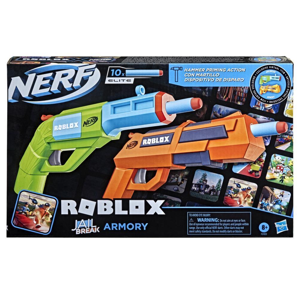 Nerf Roblox Jailbreak: Armory Kit com 2 Lançadores