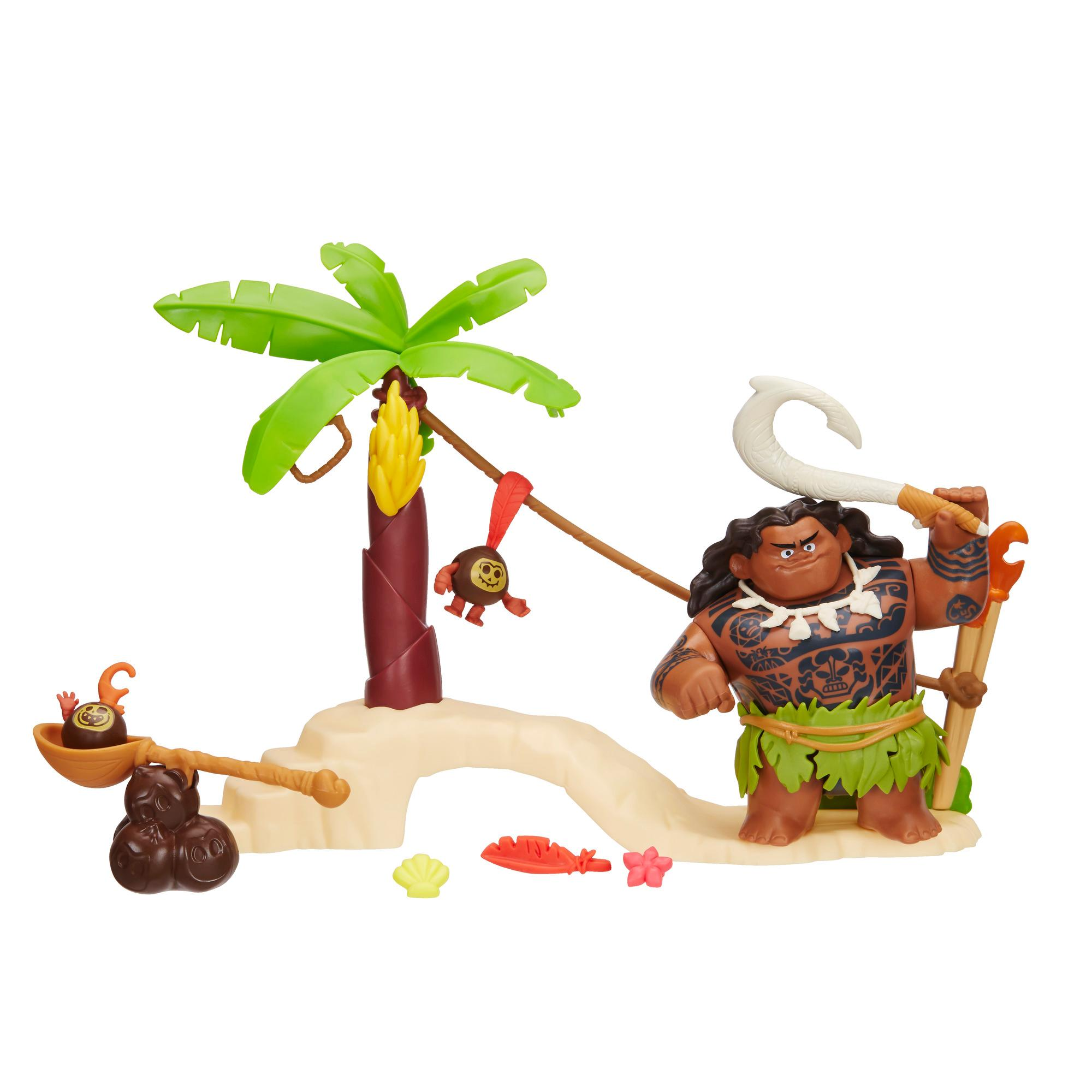 Conjunto Mini Moana Com Barco E Amigos - Praia