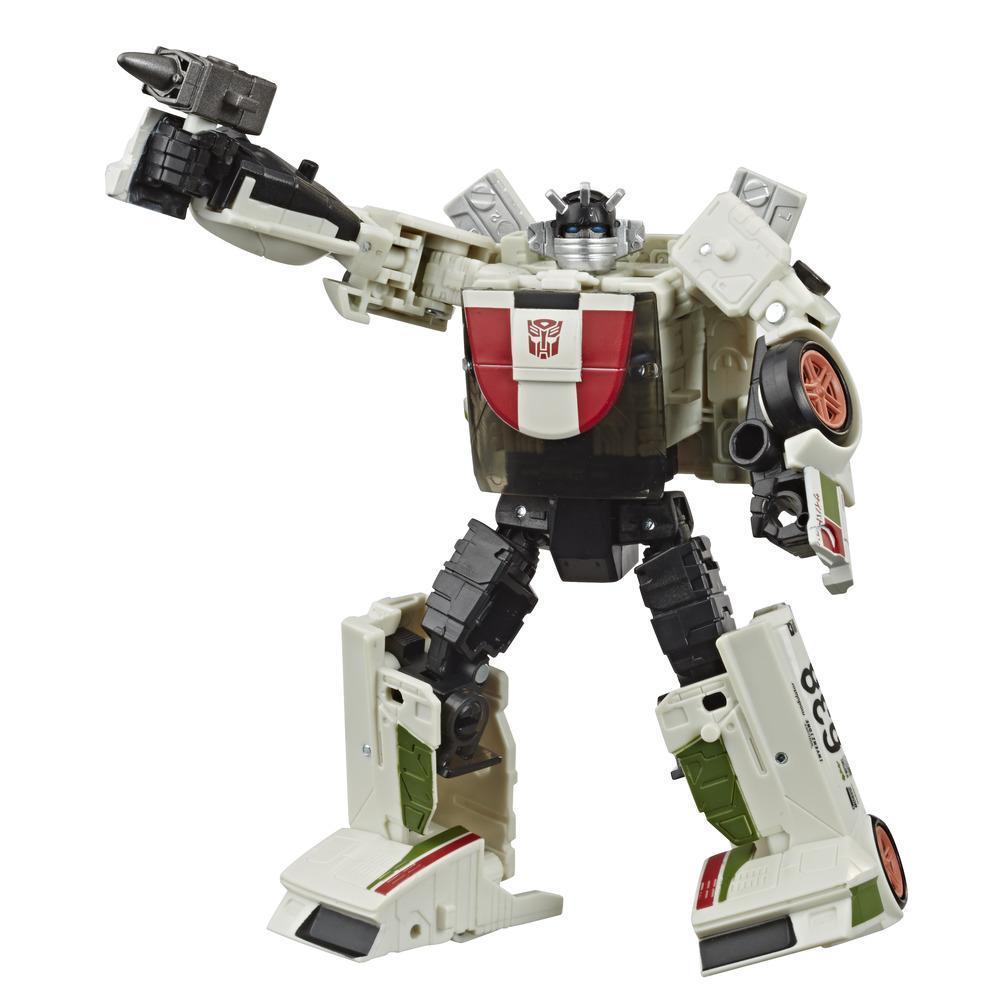 Transformers Generations War for Cybertron: Earthrise Deluxe - Figura modular de 14 cm WFC-E6 Wheeljack