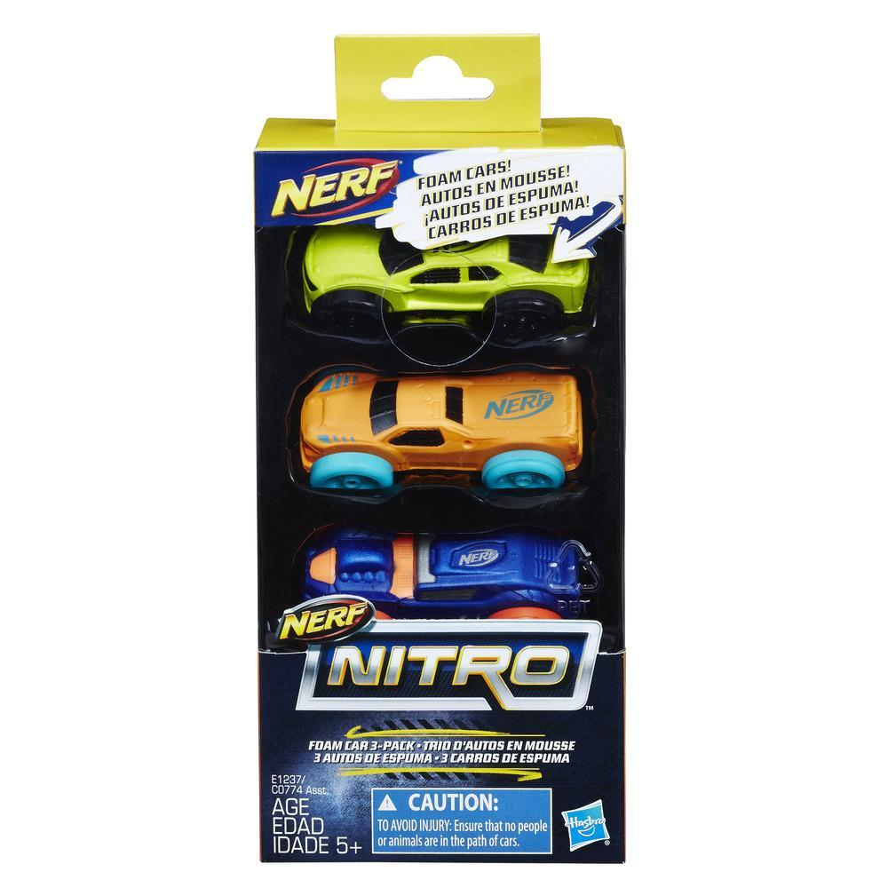 Nerf Nitro - 3 Carros de Espuma (Versão 9)