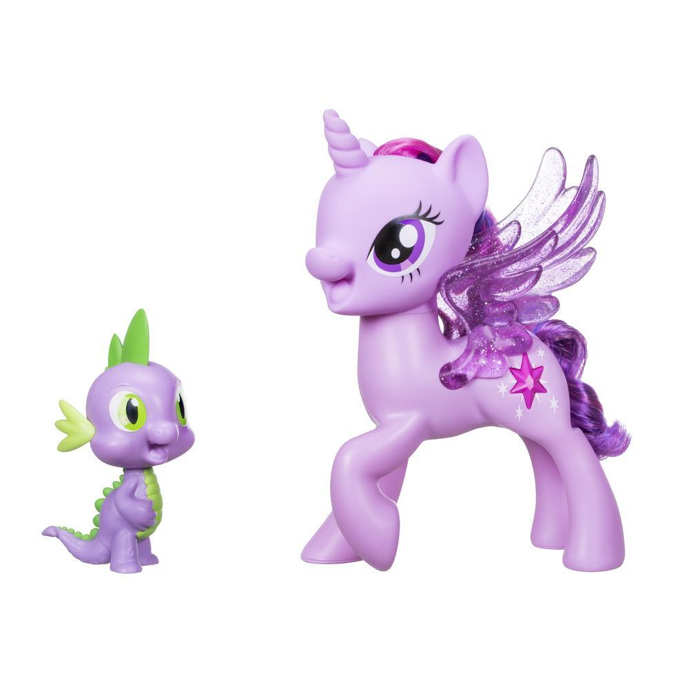 My Little Pony - Princesa Twilight Sparkle e Spike o Dragão Amigos Cantam Juntos