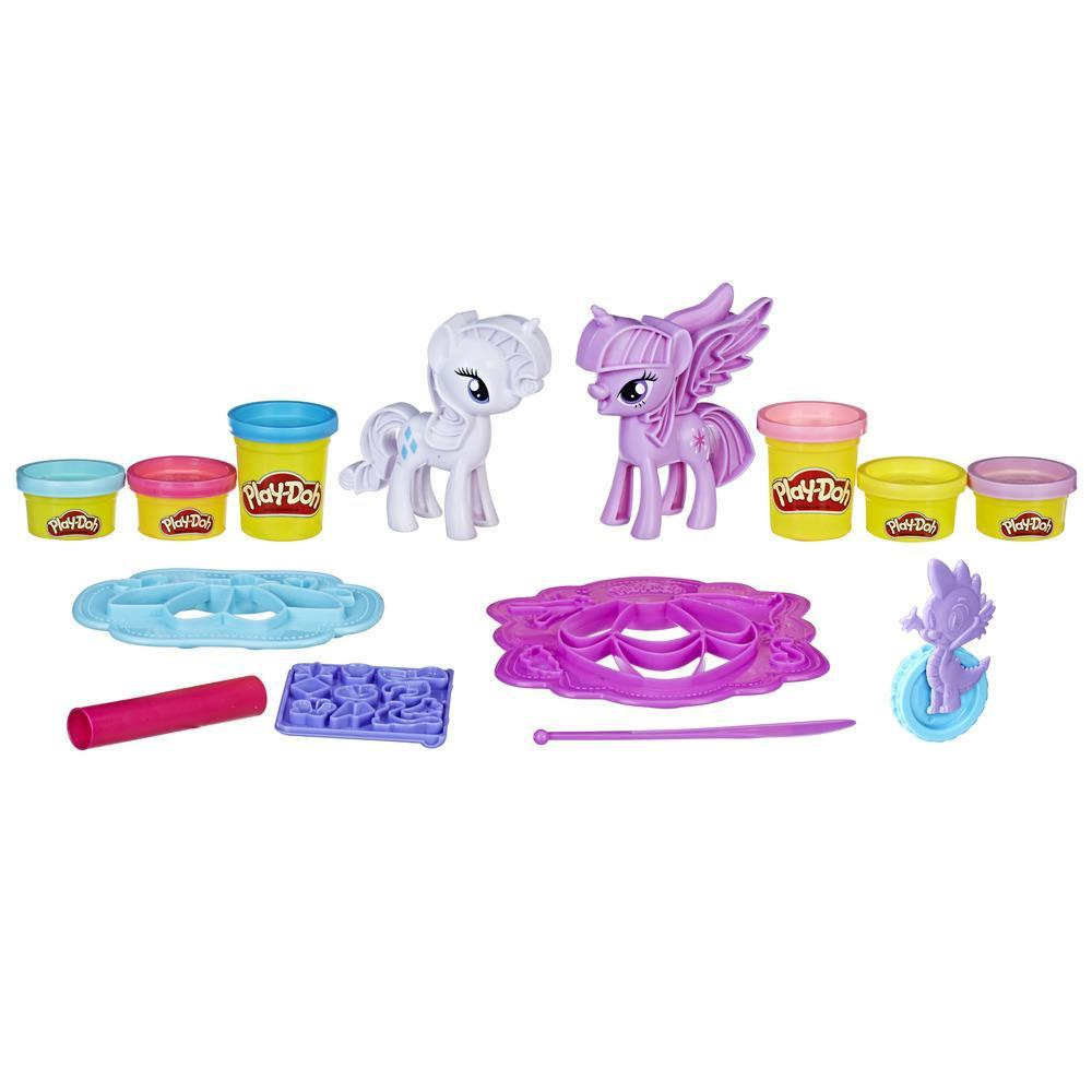 Play-Doh My Little Pony - Princesa Twilight Sparkle e Rarity Moda Divertida