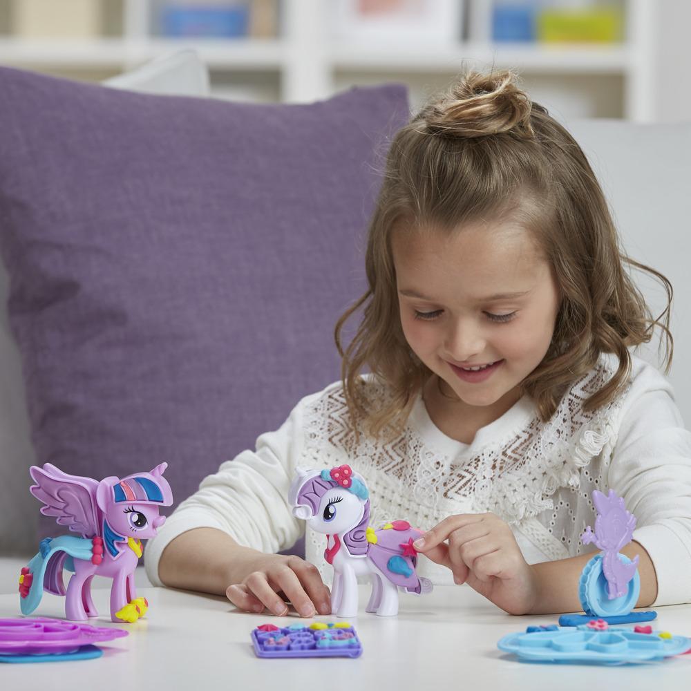 Play-Doh My Little Pony - Princesa Twilight Sparkle e Rarity Moda Divertida