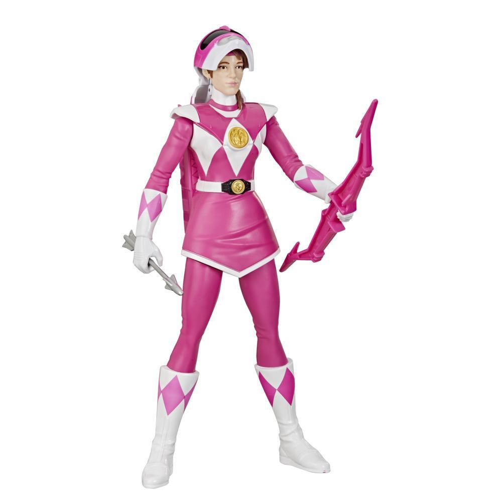 Power Rangers Mighty Morphin Power Rangers - Ranger Rosa Morphin Hero - Figura de Ação Brinquedo de 30 cm