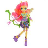 My Little Pony Equestria Girls - Boneca Fluttershy estilo esportivo arco e flecha