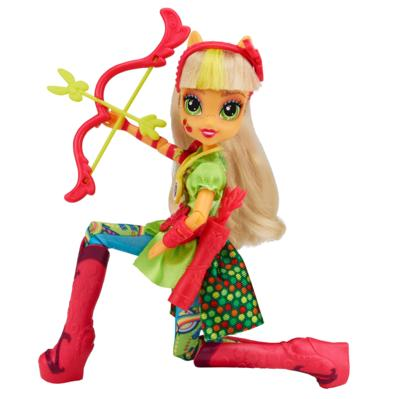 My Little Pony Equestria Girls - Boneca Applejack estilo esportivo arco e flecha