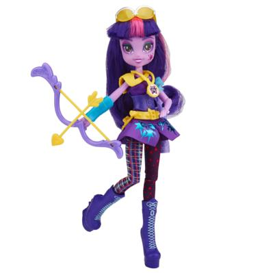 My Little Pony Equestria Girls - Boneca Twilight Sparkle estilo esportivo arco e flecha