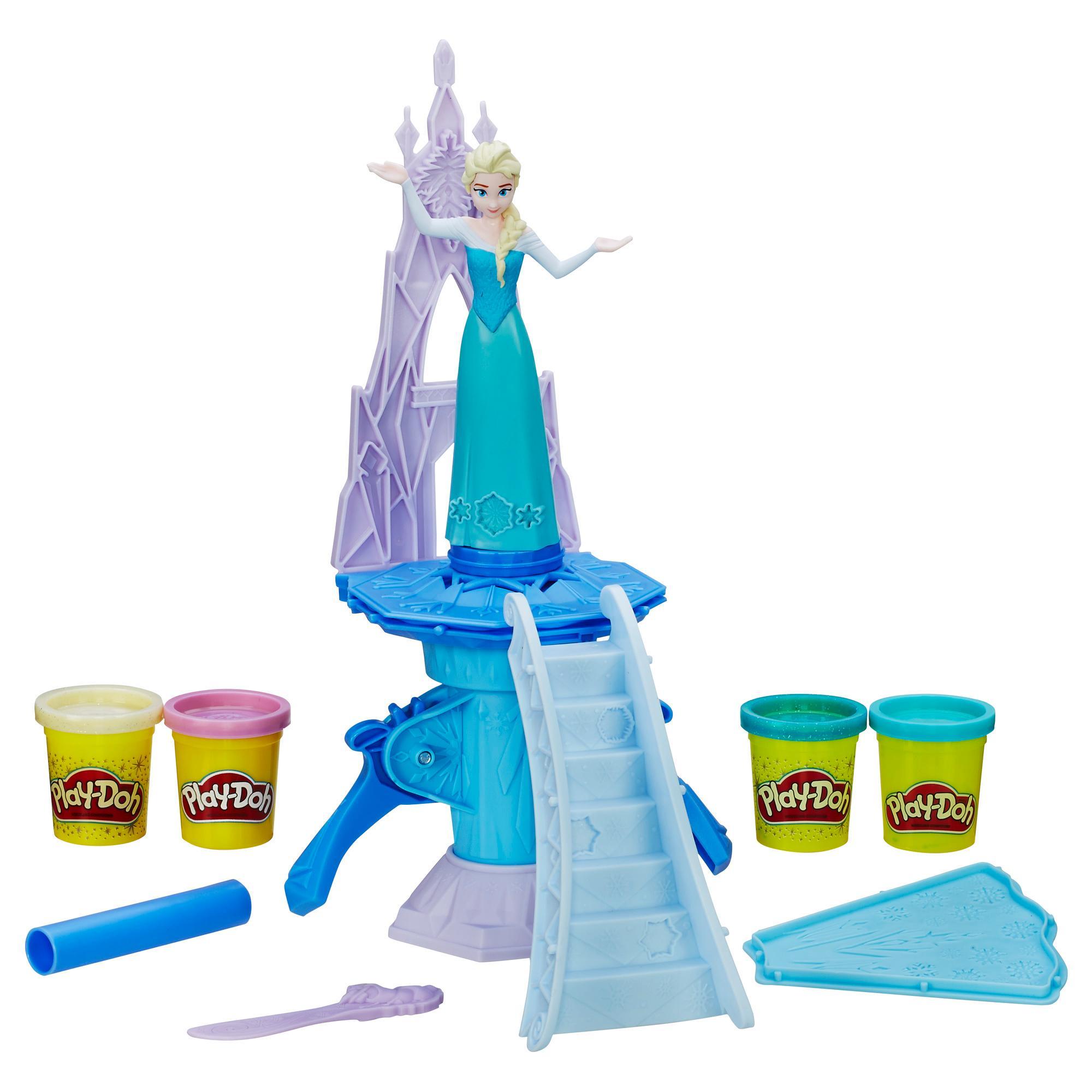 Massinha de Brincar do Palácio de Gelo Encantado do Frozen, Estrelando Elsa