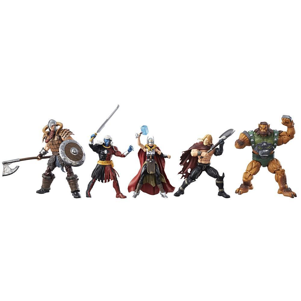 Marvel Legends Series - Batalha por Asgard Kit com 5 figuras