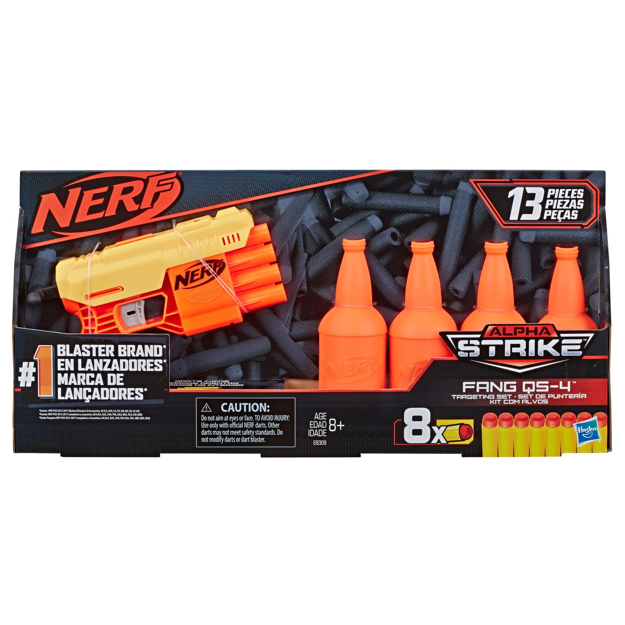 Kit de Treino Fang QS-4: O kit de 13 peças Nerf Alpha Strike