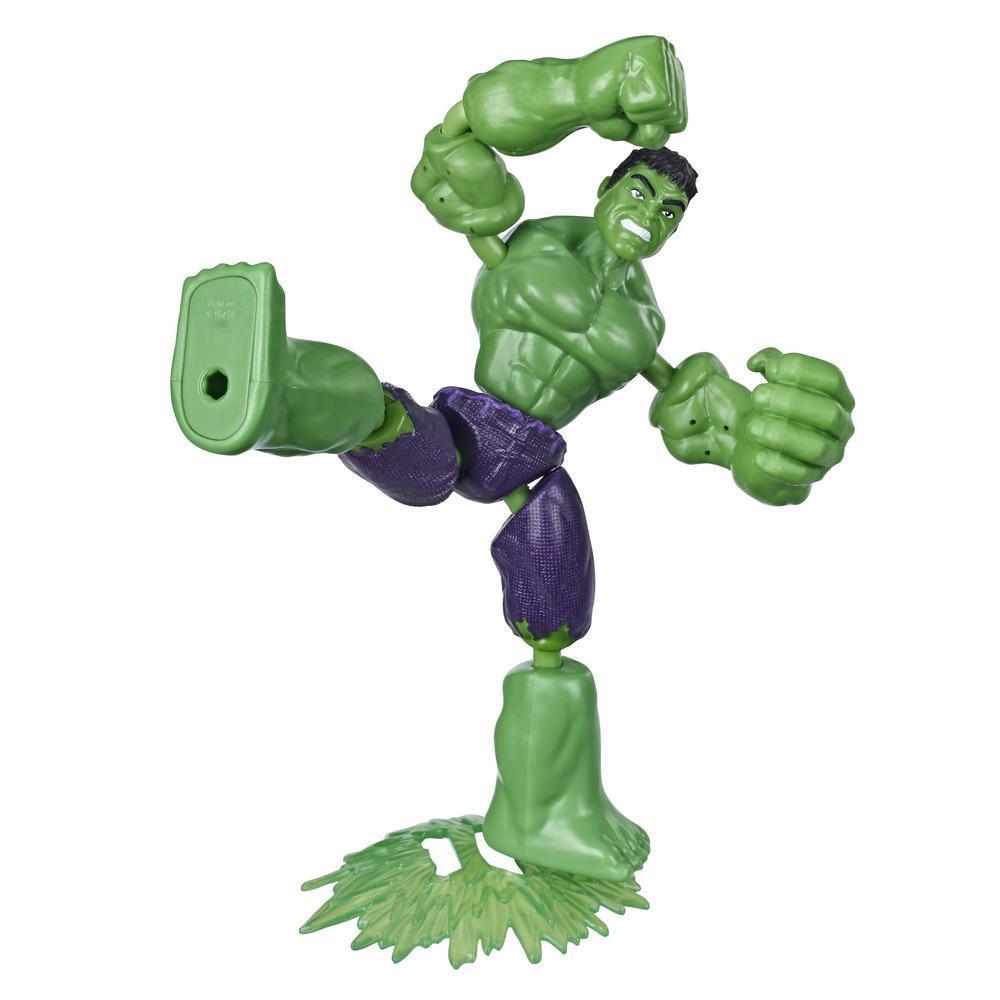 Marvel Vingadores Bend and Flex Figura Brinquedo, 15 cm figura Hulk flexível, inclui acessório, para crianças acima de 6 anos