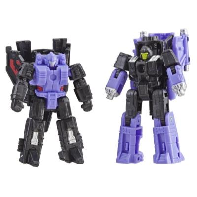Transformers Generations War for Cybertron: Siege Micromaster - Kit com 2 Figuras de WFC-S6 Decepticon Patrulha Aérea