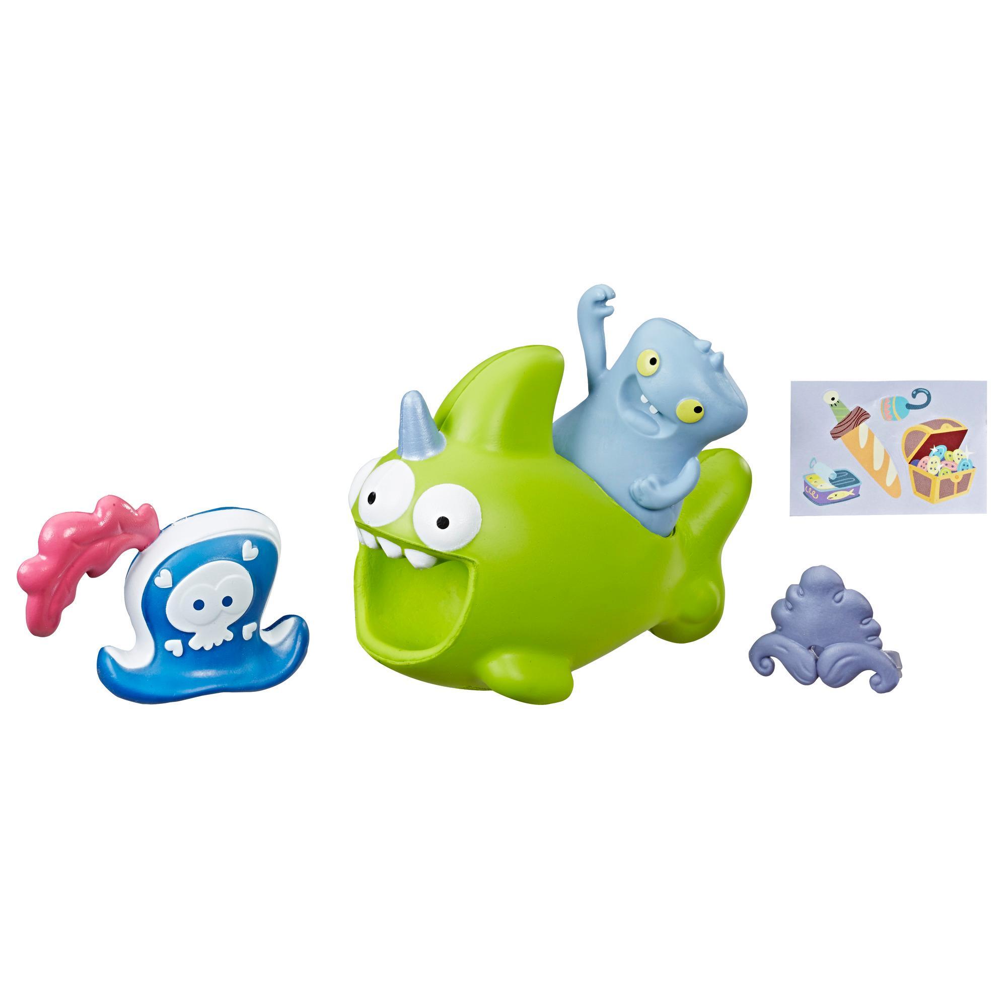 UglyDolls Babo e Sharwhal para apertar e levar - 2 brinquedos com acessórios