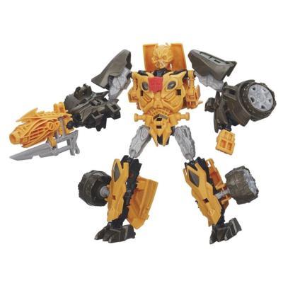 Bonecos colecionáveis para montar Construct-Bots Dinobot Warriors Bumblebee e Nosedive Dino - Coleção Transformers: A Era da Extinção