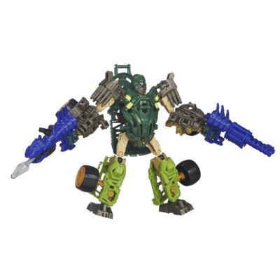 Boneco colecionável para montar Construct-Bots Dinobot Warriors Autobot hound e Wide Load Dino - Coleção Transformers: A Era da Extinção