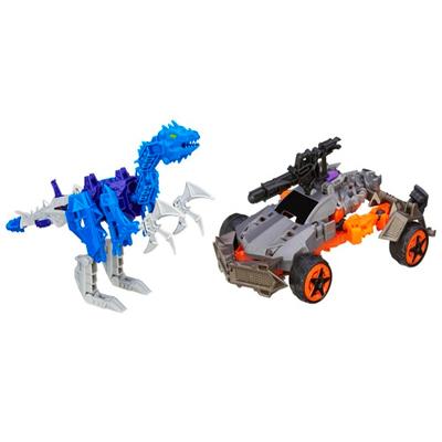 Boneco colecionável para montar Construct-Bots Dinobot Warriors Lockdown e Hangnail Dino - Coleção Transformers: A Era da Extinção