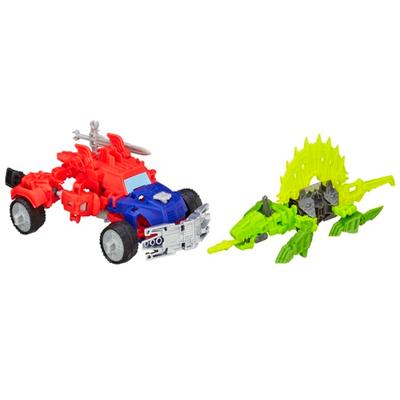 Boneco colecionável para montar Construct-Bots Dinobot Warriors Optimus Prime e Gnaw Dino - Coleção Transformers: A Era da Extinção