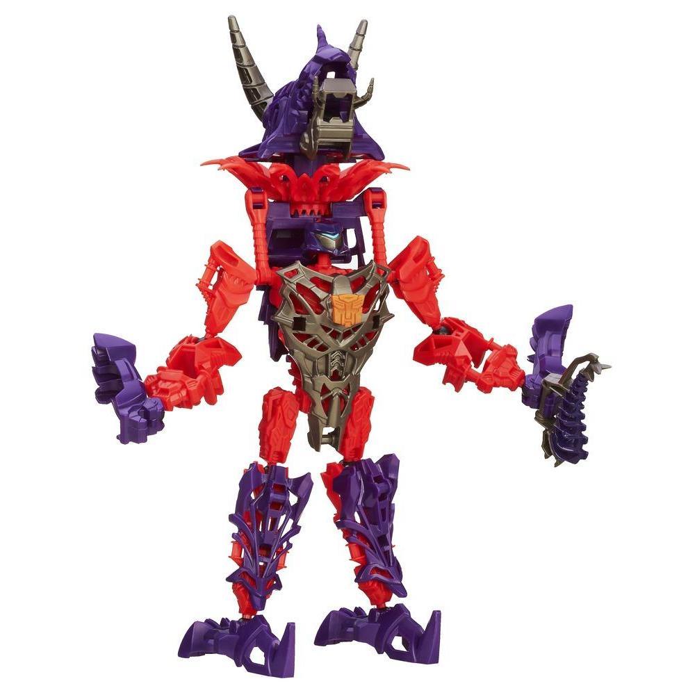 Boneco colecionável para montar Construct-Bots Dinobot Slug Coleção Transformers: A Era da Extinção