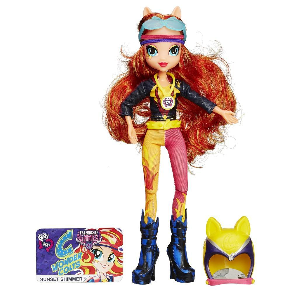 My Little Pony Equestria Girls - Boneca Sunset Shimmer estilo esportivo motocross