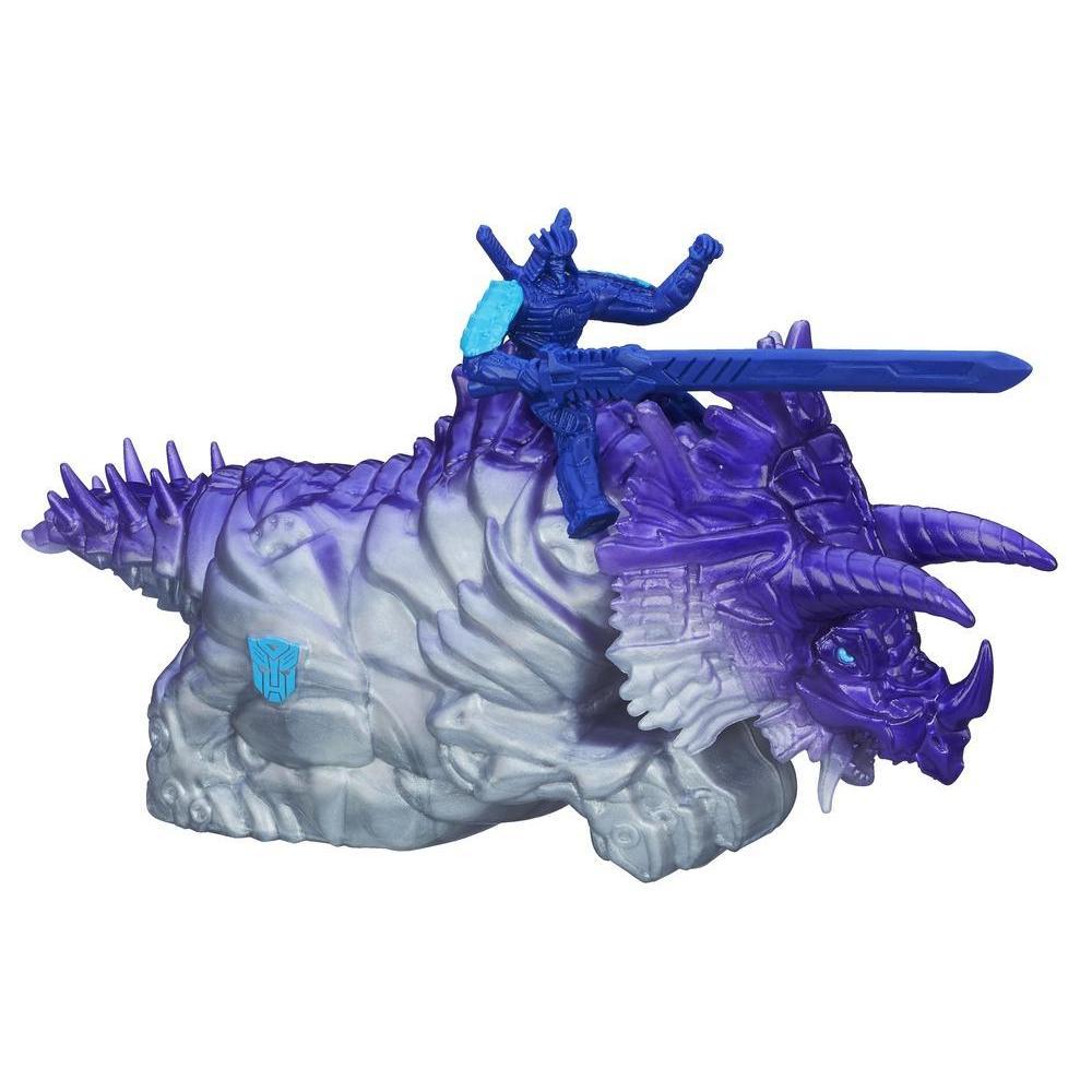 Bonecos Dino Sparkers do Autobot Drift e Dinobot Slug - Coleção Transformers: A Era da Extinção