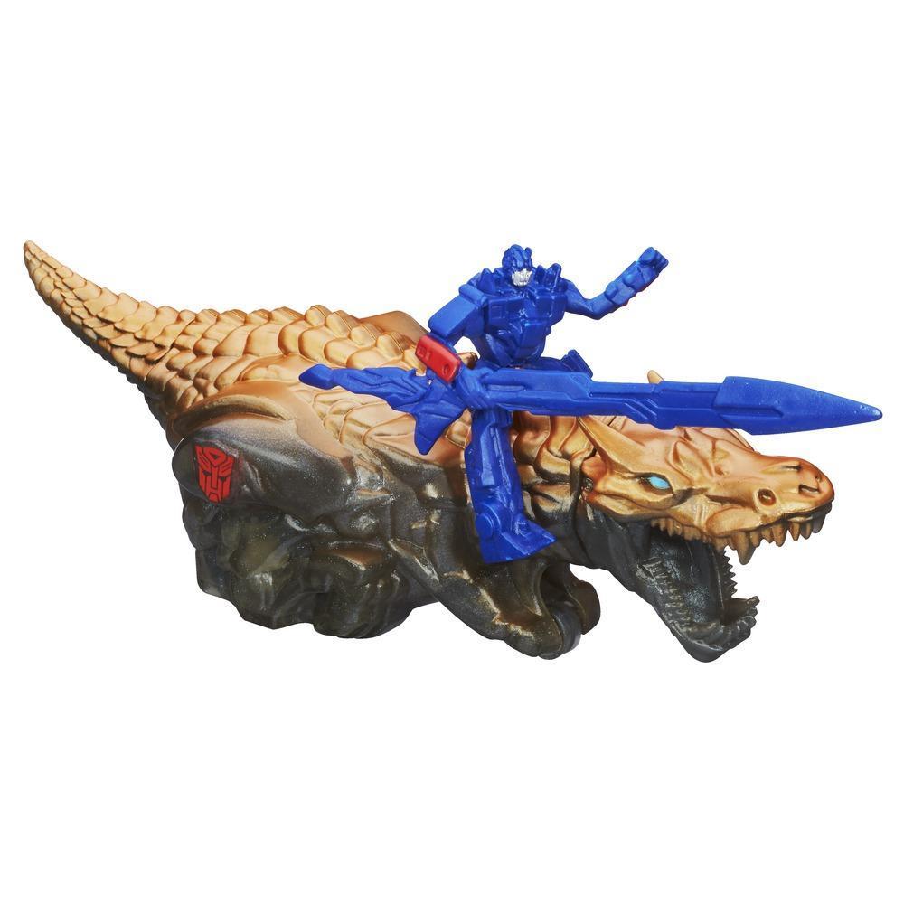 Bonecos Dino Sparkers do Optimus Prime e Grimlock - Coleção Transformers: A Era da Extinção